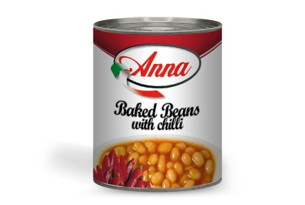 Fagioli Baked Beans con chilly